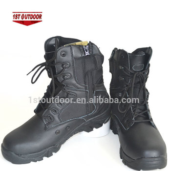 dc2d8f1fead New Fashion Black Stock Shoes Outdoor Man Footwear Leather Army Zipper  Military Army Combat Boots - Buy Tactical Combat Boots,Combat Army  Boots,Army ...