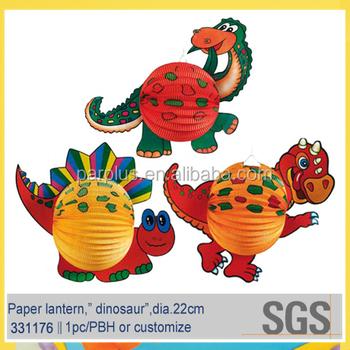 Cartoon Dinosaur Paper Craft Lanterns For Kids Party Decoration