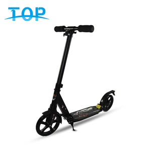 TOP 100% Aluminum Body Material and Black White Color big wheel kick scooter for adults