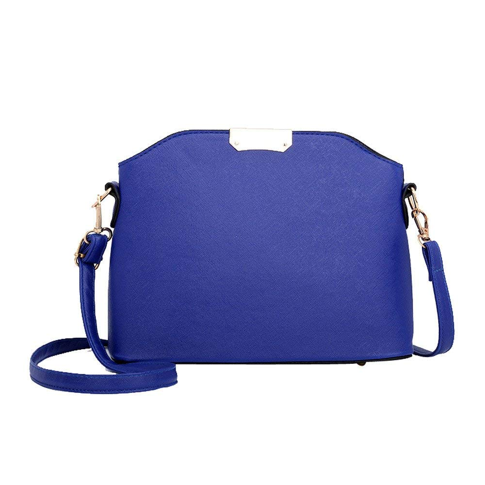 Fashion Pure Color Messenger Bags Shoulder Bag,Outsta Women Handbag Purse Cosmetic Bag Classic Casual (Blue)