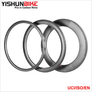 Wholesale! 700c Road/CX 2017 YISHUN Bike 33mm Tubular Chinese Carbon Rim Popular 26mm Wide U Shape Bicycle Rims WTD3T