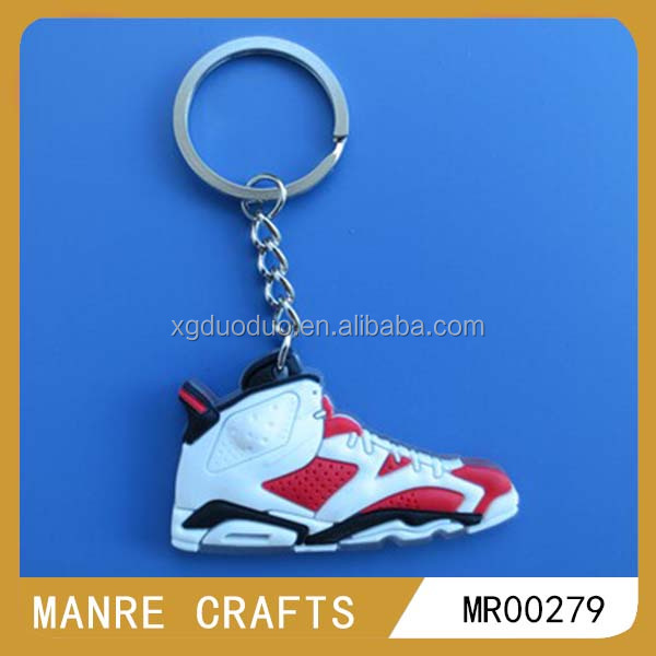 sports series nike air jordan sneaker design shoe keychainsshoe shape custom 3d soft pvc rubber keychains wholesale