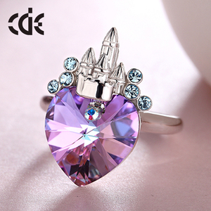 new design lady finger crystal fashion jewelry 925 sterling silver ring