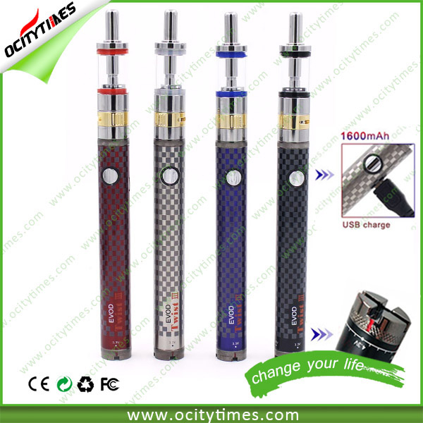 FREE OEM for 1300mah evod twist vv battery/1600mah evod twist 3/EVOD Twist III evod passthrough kit