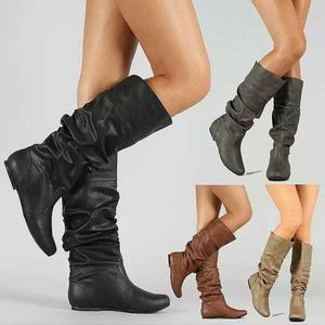 sh10323a Winter keep warm western boots 34 - 43 size womens under knee high boots