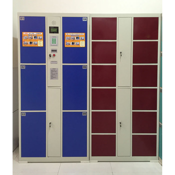 School Used Steel Electronic Lockers Storage Cabinet Metal Cupboard With Coin Lock