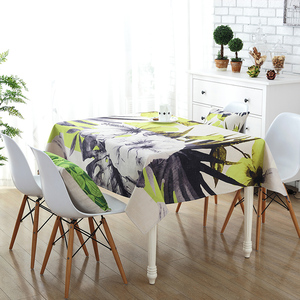 chinese supplier abstract flower digital printing linen cotton decoration office table cover