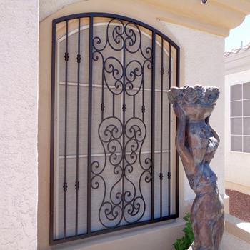 2017 Iron Window Grill Design Burglar Proof With Color