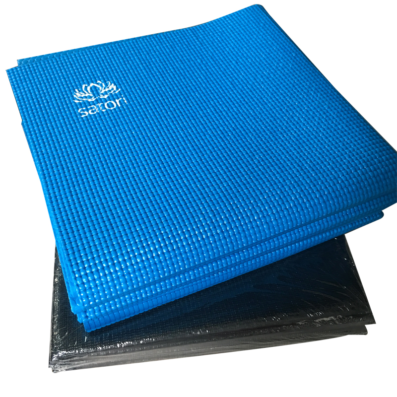 "High density non slip easy to wash and pvc folding incline yoga mat 72 "" 24 "" 1 / 4 """