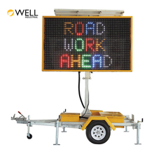 Outdoor Display Message Led Digital Traffic Sign Trailer Vms Message Board