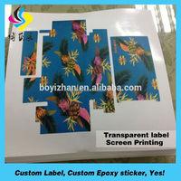 Adhesive printed address label and return address label printing