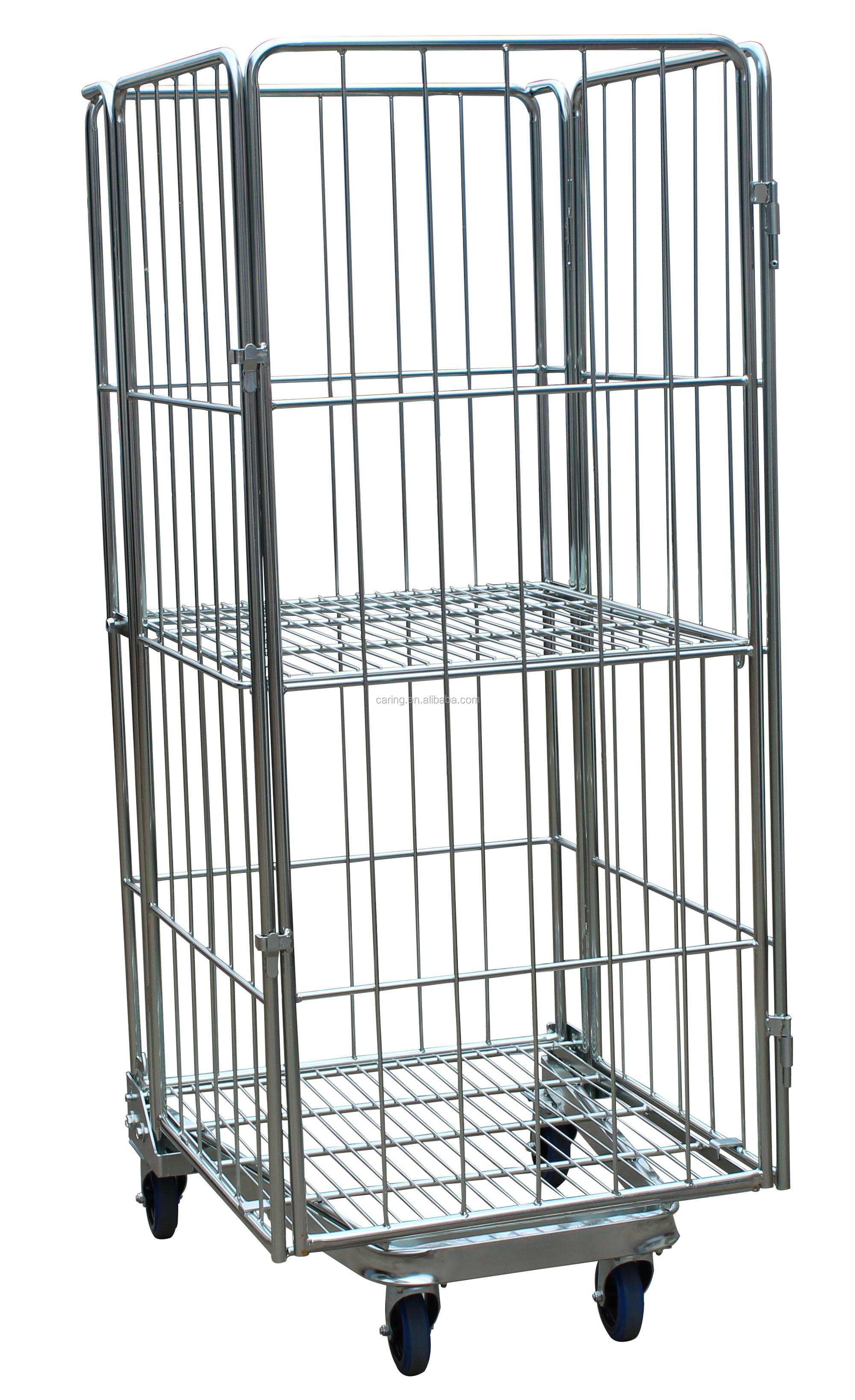 Warehouse Picking Cart/roll Cage Trolley/warehouse Roll Container - Buy  Warehouse Picking Cart/roll Cage Trolley/warehouse Roll Container,Metallic