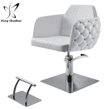 diamond styling fiber glass white hair salon chair with hydraulic pump