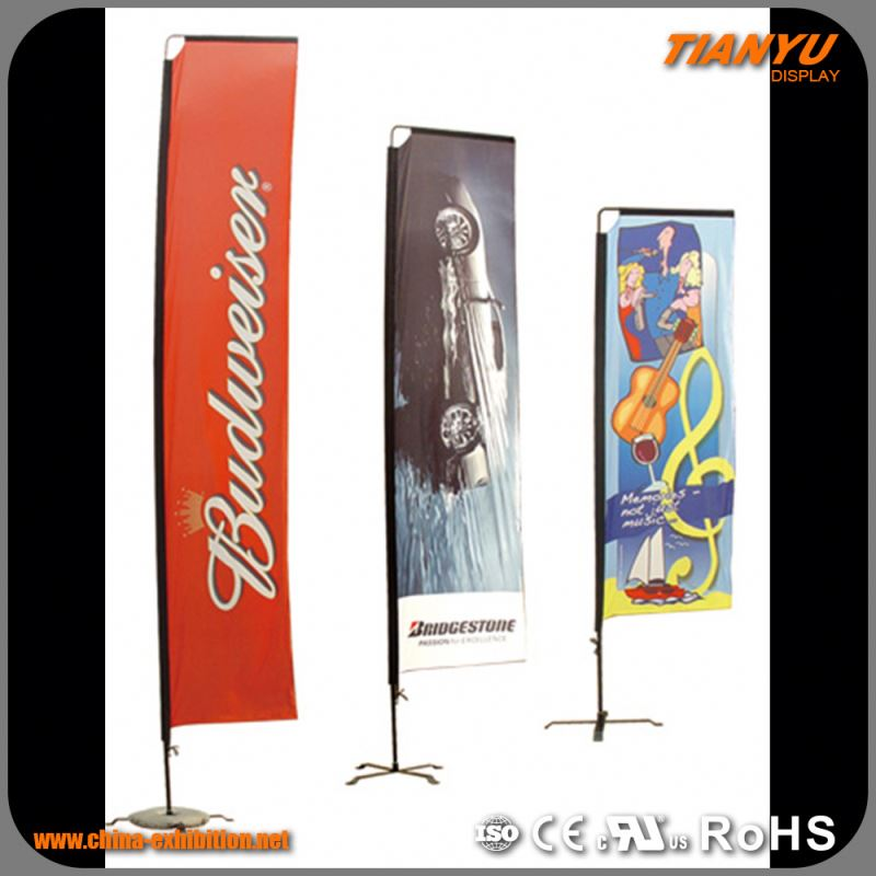 Professional Factory Supply Custom Made Exhibition Beach Flag Printing