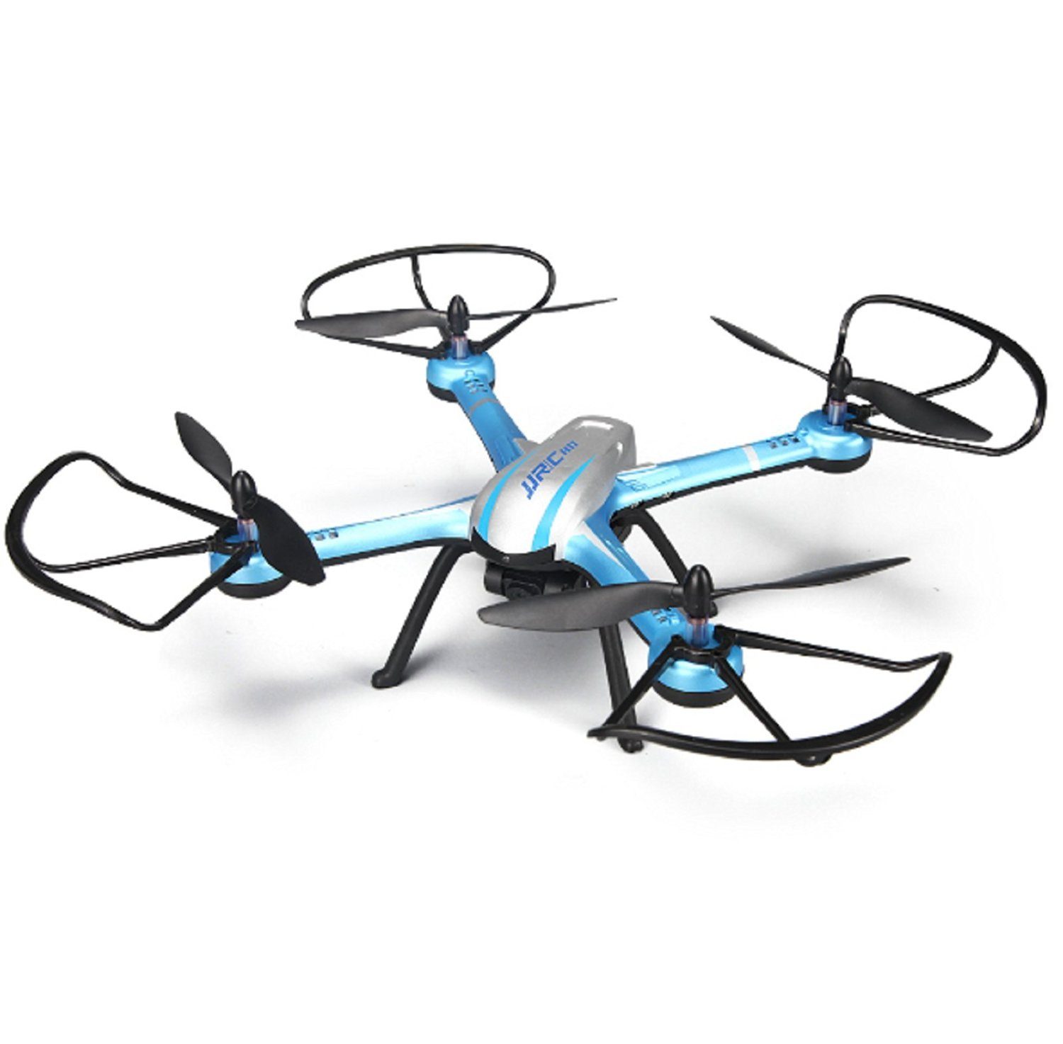 NEW ARRIVAL!!! Drone With 2.0MP HD Camera 2.4G 4CH 6Axis One Key Back RC Quadcopter RTF Remote Control Helicopter 3D Mode VS H12C H6C (Blue Color)