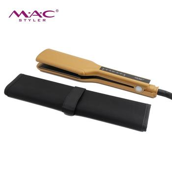 Hair Straightener Hair Straightens&Curls with Adjustable Temp Professional Flat Iron for Hair Styling Luxurious Gold