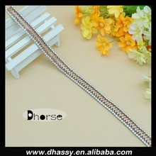 DH-RT0202 Rhinestone Diamante Chain Ribbon Sewing Trim Embellishment Diamond Bridal