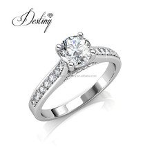 Destiny Jewellery 925 silver ring charm crystals from swarovski 1 carat diamond ring price DR0356
