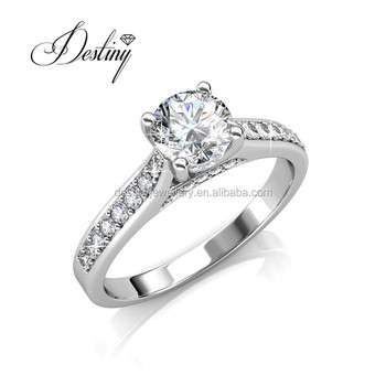 Destiny Jewellery wholesale 925 silver ring 1 carat diamond fashion ring  for wedding women DR0356 made 17d62351fdf2