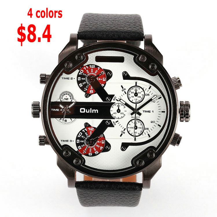 china suppliers OULM india online shopping gold watches for men japan movement diamond watches
