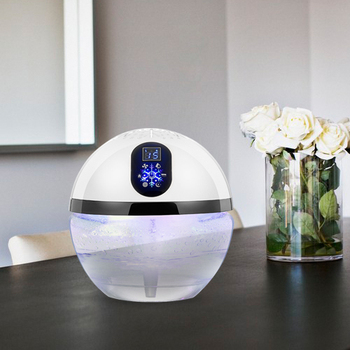 Charmant Office Water Air Purifier Led Light Globe Wood Freshener Fragrance Oil  Water Based Electric Air Freshener