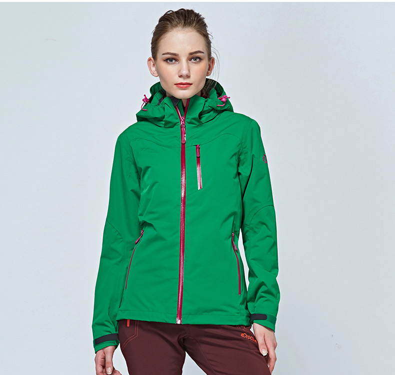 High quality OEM service Winter outside warm down feather hood green women skiing coat