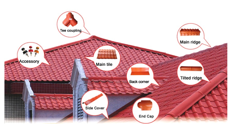 Yuehao plastic roof tiles wholesaler tiles lightweight plastic roof tiles design for water draining-9
