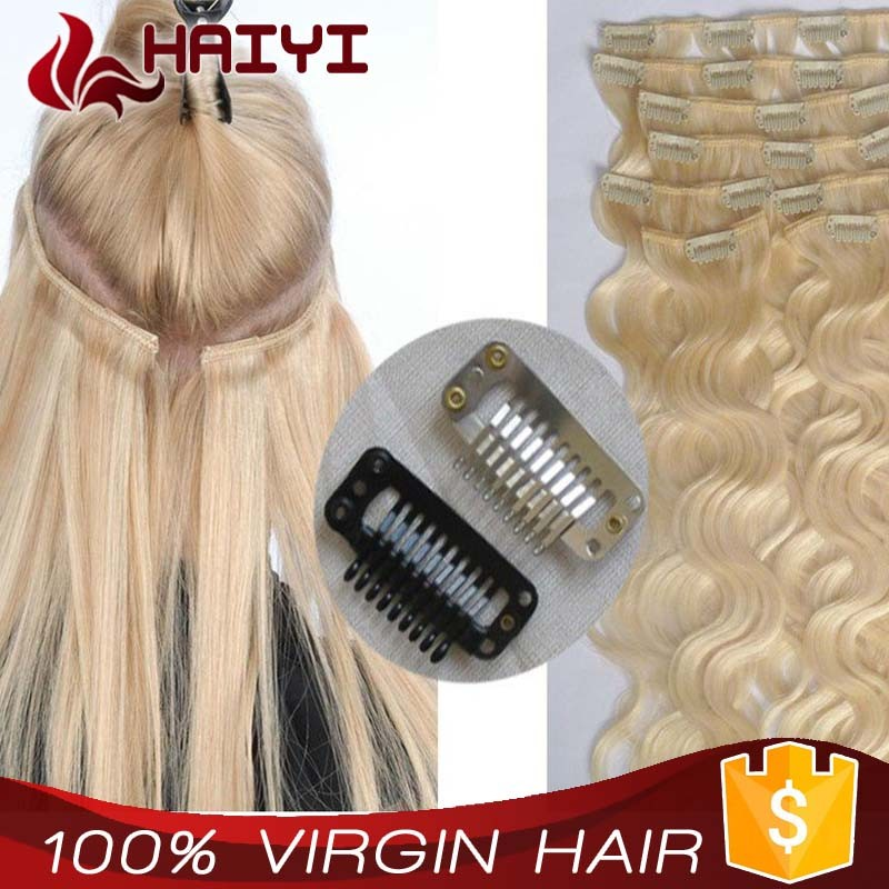 Light Blonde 30 Inch Human Hair Extensions Clip In Buy Human Hair