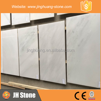 Chinese pure white marble slab for hotel decoration