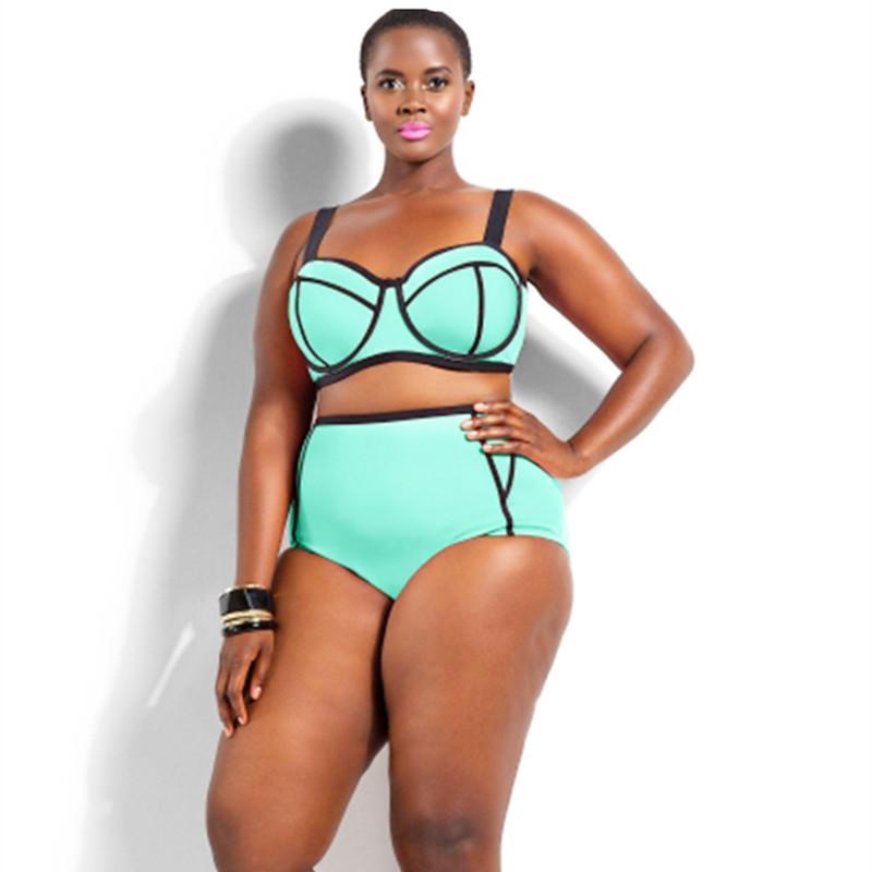 58580443ad2cb Get Quotations · Plus Size Sexy Bikini Set Underwear Top for Big Women Plus  Size Swimwear Push Up XL