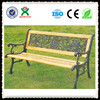 Charming designed cheap iron garden bench for wooden outdoor chair with back QX-146F