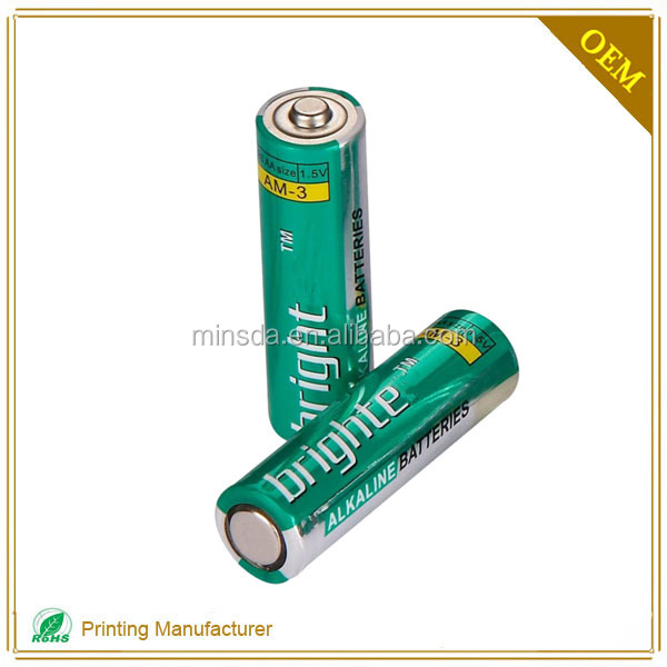 Color Battery PVC Automatic Shrink Sleeve Charger Label Printing