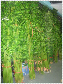 Artificial Bamboo Trees Fake Stalks Plastic Screening