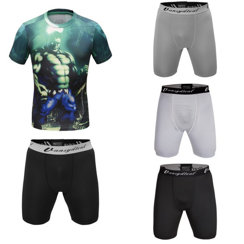 High Quality Compression Sublimationsdruck Gym Shirts Herren Shorts