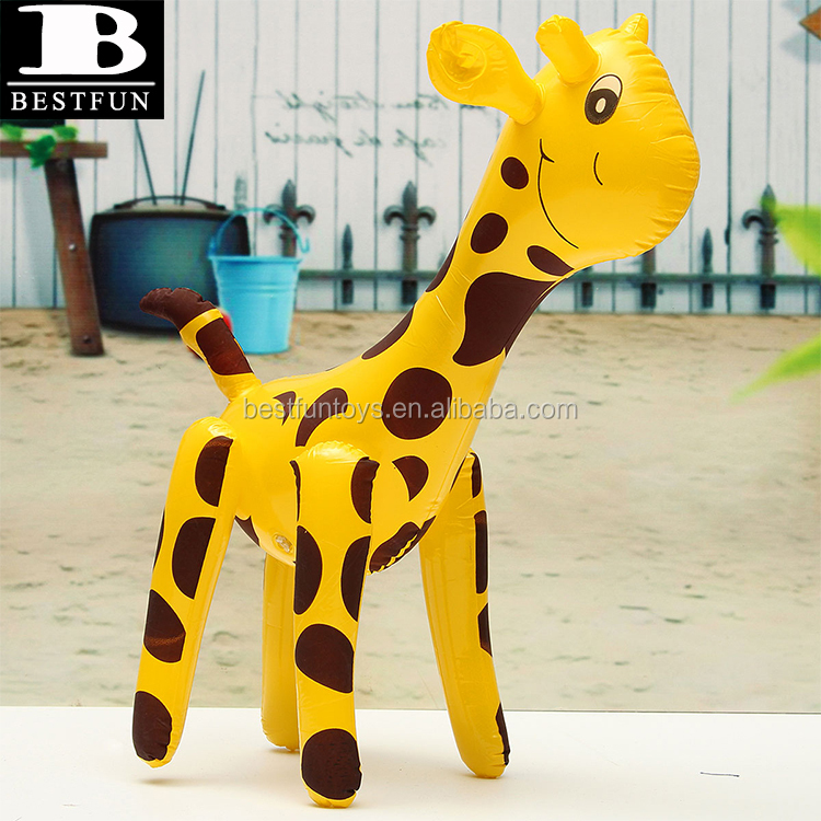 eco-friendly PVC inflatable giraffe toys lovely blow up deer kids balloons cartoon animals decorations props