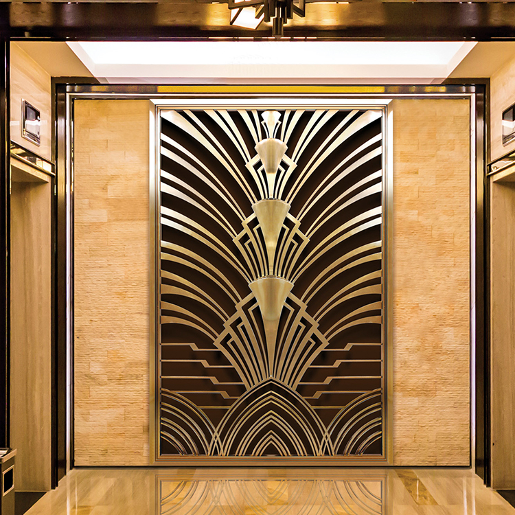 Custom Made 304 Stainless Steel Decorative Art Deco Partition Wall