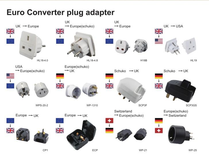 Schuko Socket Plug France Germany To Swiss Switzerland