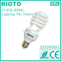 high quality triphosohor 8000hours T2 7mm 26w half spiral energy saving light ROHS