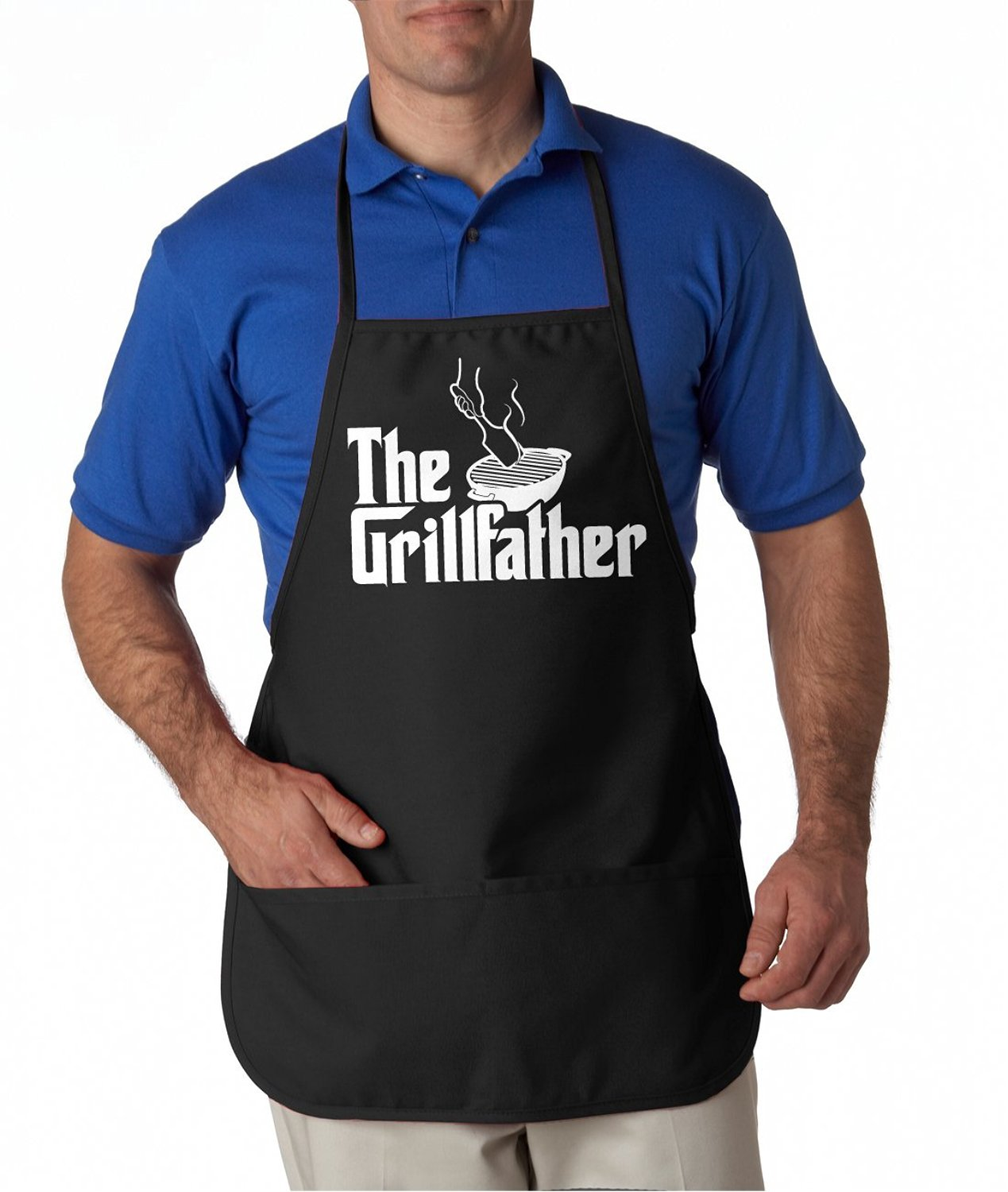 The Grillfather Apron Funny Movie Parody Summer Cookout Aprons
