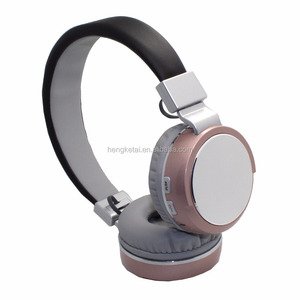 2017 new product Bluetooth rose gold headphones with TF card