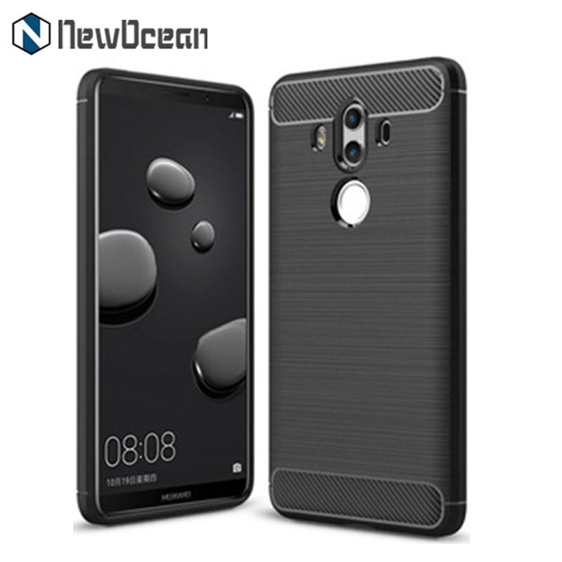 Hot selling Rugged Armor Carbon fiber TPU phone case for Huawei Mate 10 pro Case Brushed line
