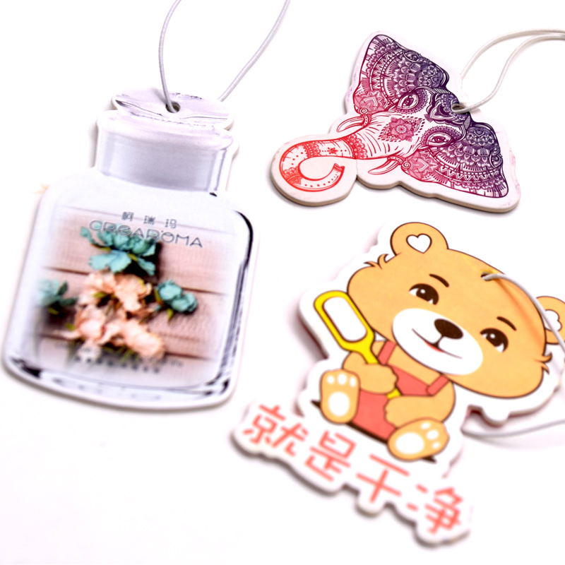 Customized Design Promotional Perfume Hanging Car Air Freshener