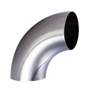 Stainless steel elbow 60 degree elbow dimensions sanitary clamped elbow dairy bend