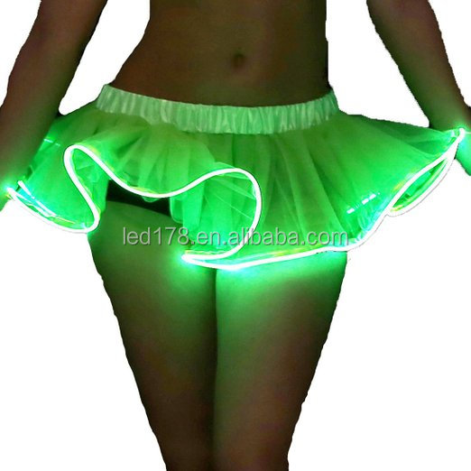 Popular Night Party Costume Womens Led Sparkle Tutu Skirts skirting board <strong>lights</strong>