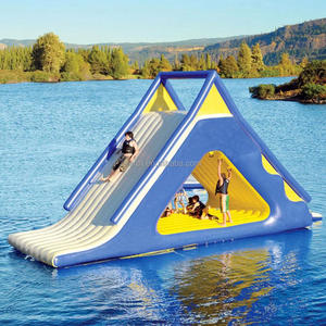 Most popular plastic giant inflatable water slide for adult