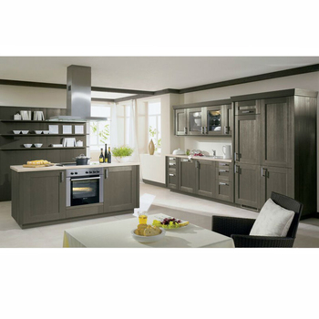 China Factory Modern Style High Gloss Grey Kitchen Cabinet Simple Design
