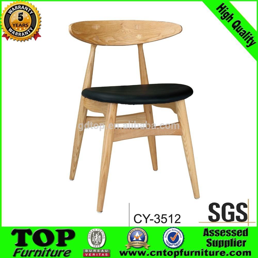Moderna sólido sin brazos tapizados silla de madera para sala de ...