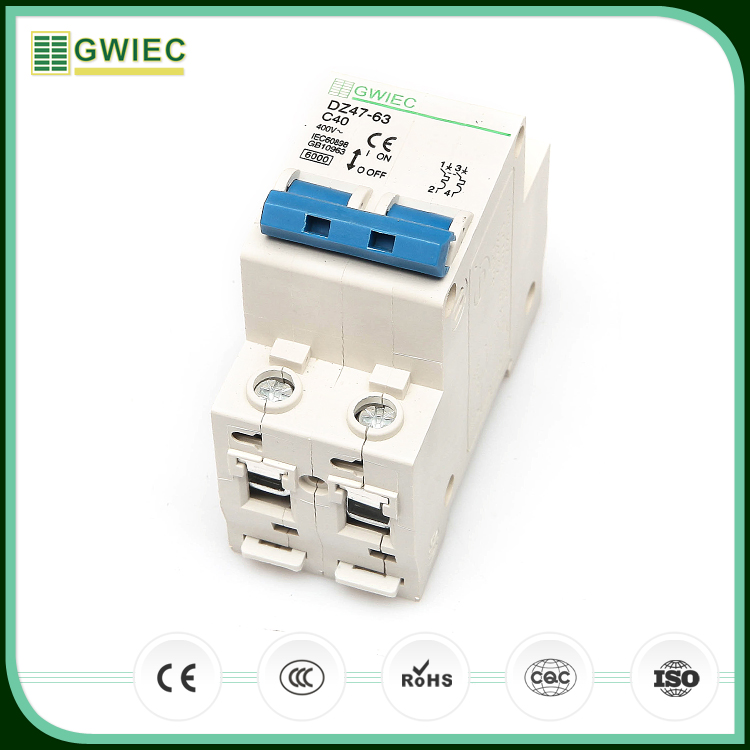 GWIEC China Cheap Products DZ47-63 C45 MCB 32A 2P Miniature Circuit Breaker 400V