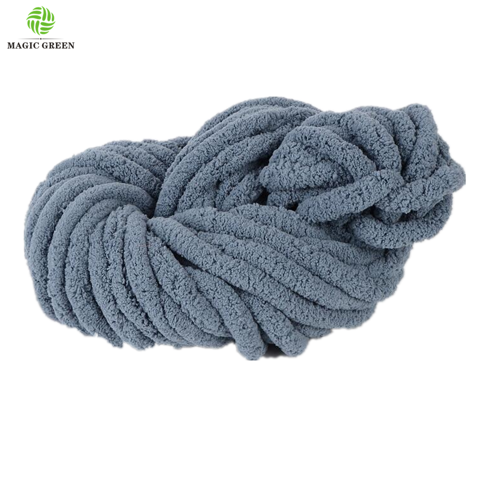 33colors wholesale 2cm polyester extreme  soft strong arm thick chunky  chenille loop  hat scarf  throw banket hand knit yarn