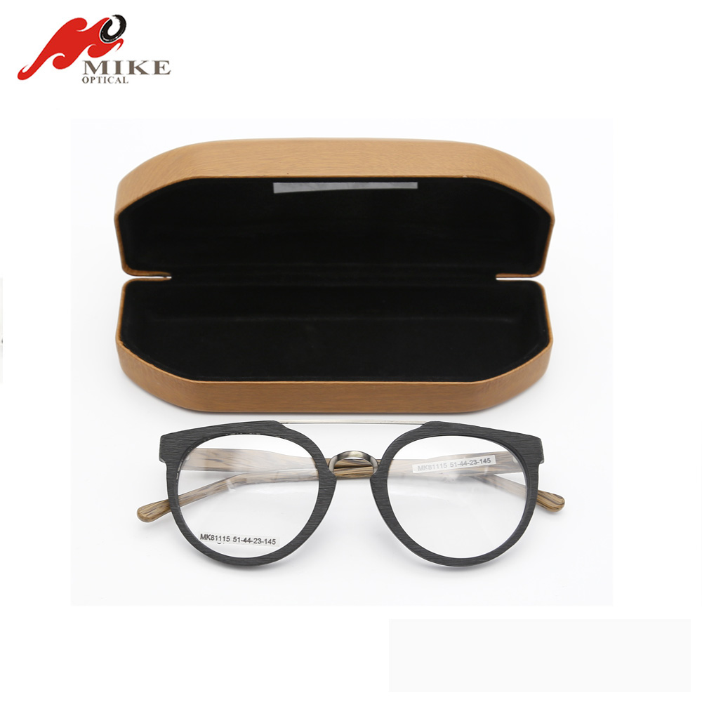 Tinplate custom eyeglass case wooden eyeglass box spectacle case